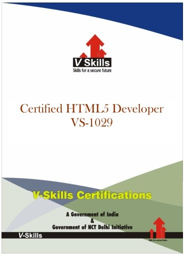 Certified HTML5 Developer  Vskills offering certification in HTML5 For more details you can check the link below.  http://www.vskills.in/certification/Certified-HTML5-Developer
