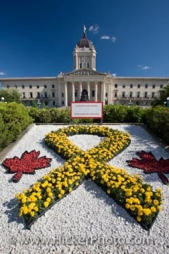 Legislative Building Flower Rock Garden Winnipeg Manitoba Canada- an amazingly beautiful building in our province. Come and visit. It is open to the public.