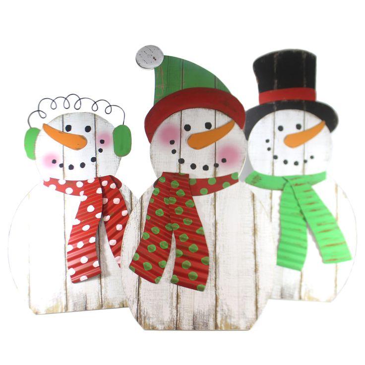 Christmas Snowman Family St/3 Christmas Decor