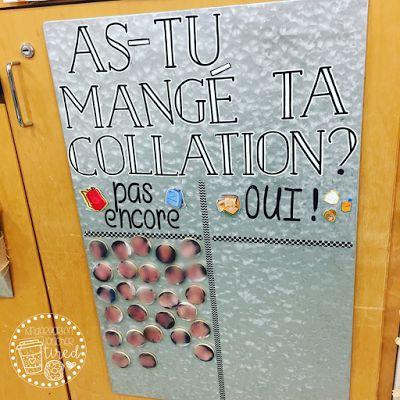 Kindergarten Teacher Tired: DIY Open Snack Magnet Board