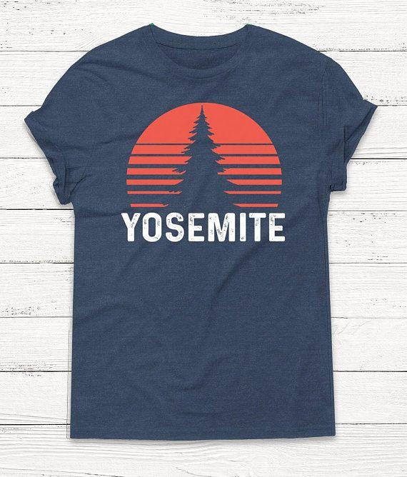 Yosemite Tshirt Camping Shirt Outdoor Shirt Vintage Shirt Etsy Outdoor Shirt Retro Shirts T Shirt