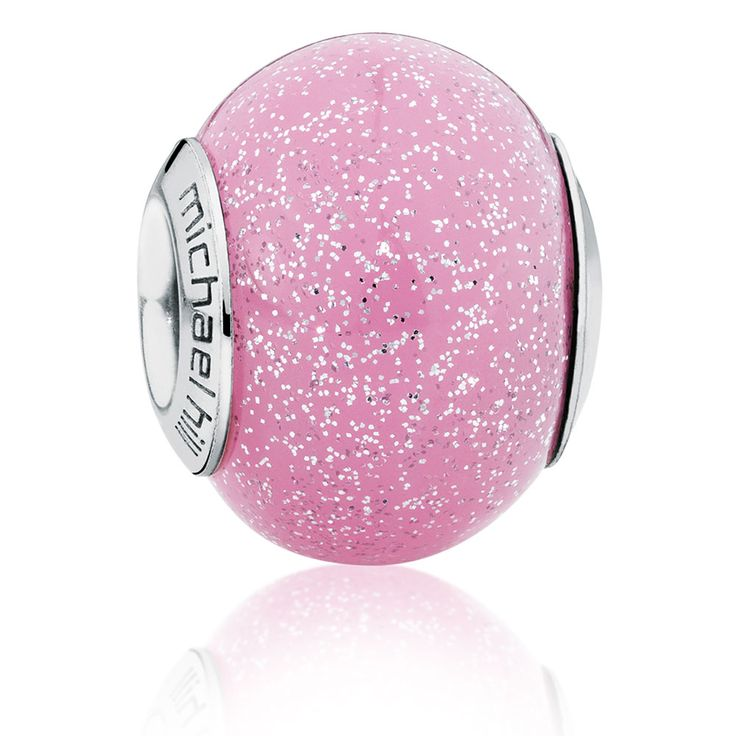 Pink Sparkle Murano Glass Charm