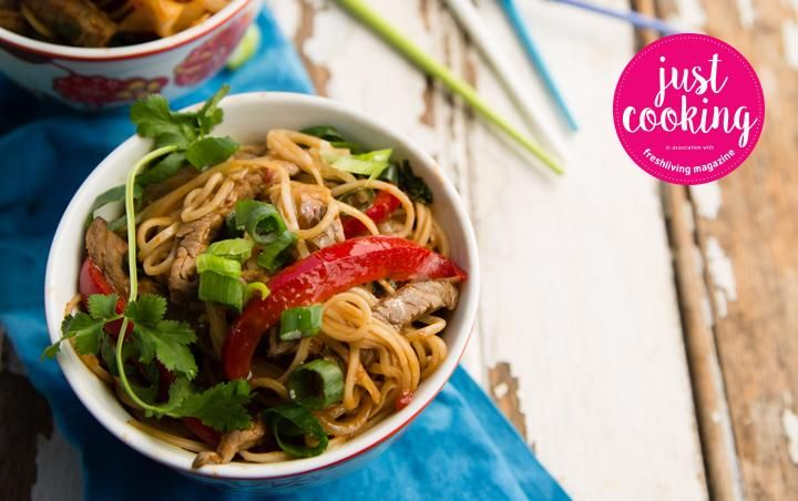 Simple beef and noodle stir-fry