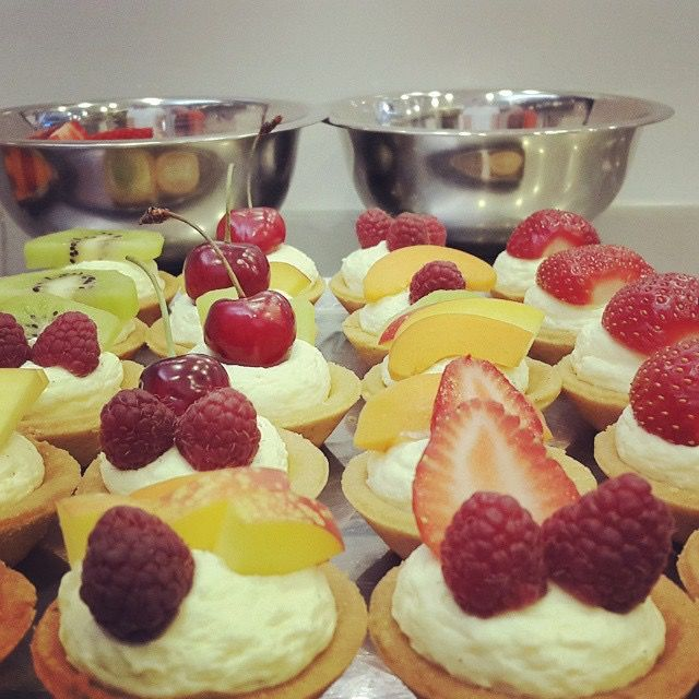 The art of the tart. Mini tarts with the most delicious fresh fruits.