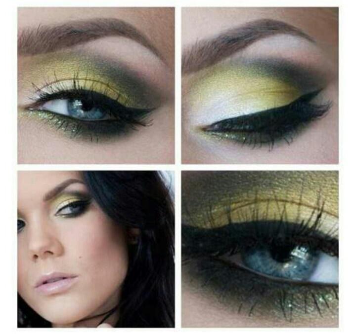 Pretty Green Eye Makeup by Linda Hallberg