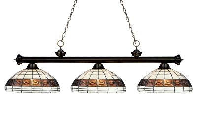 Billiard/Island lighting #billiard #island #tiffany 100703BRZ-F14-1