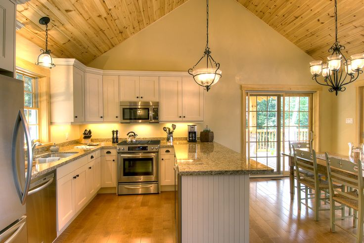 1000 ideas about cathedral ceilings on pinterest for Kitchen designs with cathedral ceilings