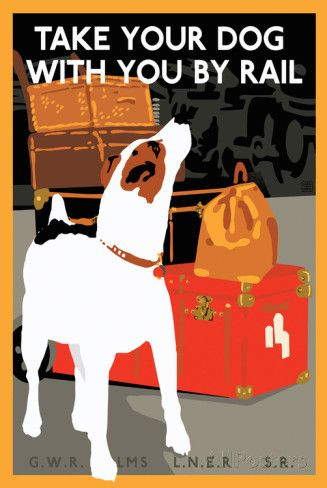 Dog by Rail Posters at AllPosters.com