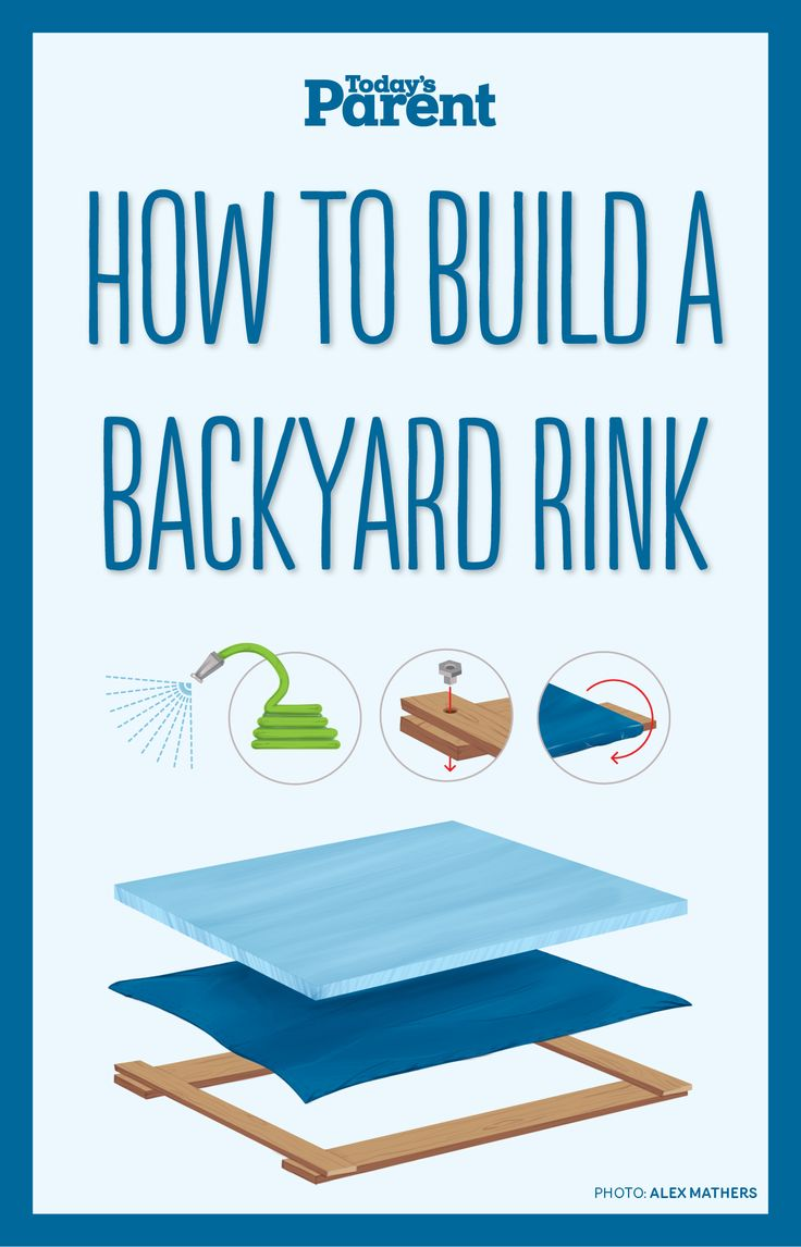 Now that the cold weather is upon us, here's how your family can build your very own backyard rink in 4 easy steps! #DIY #BackyardSkatingRink