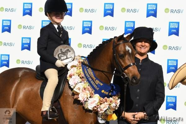 Smiles all round.  Annabelle Richardson rode her mother Emma's lovely…