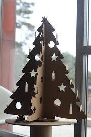 cardboard chrismas tree www.krearton.hu