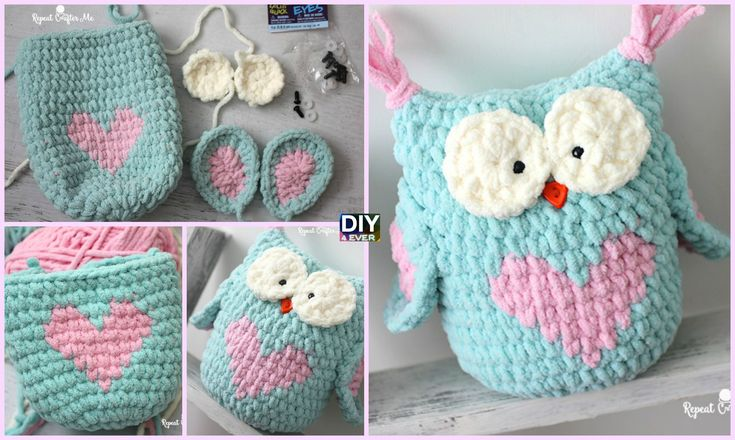 Running out of ideas on what to give family members or friends on Valentine's day? Don't worry! This Valentines Heart Crochet Owl is just for you !