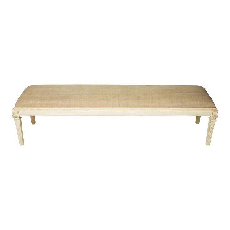 Mismatched Large Bench in Stately White - Image 1 of 3