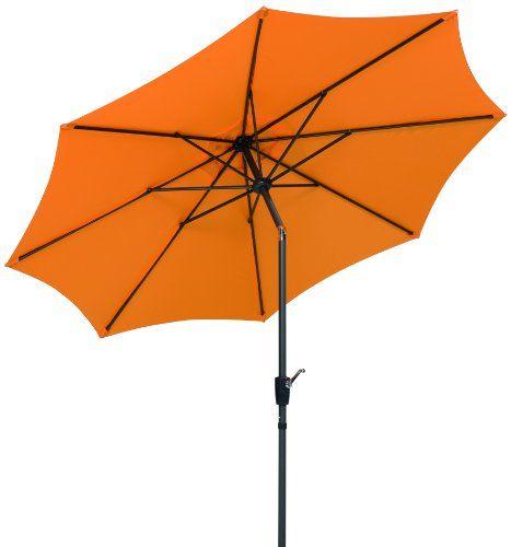 Schneider Sonnenschirm Harlem, mandarine, ca. 270 cm Ø, 8-teilig, rund Schneider