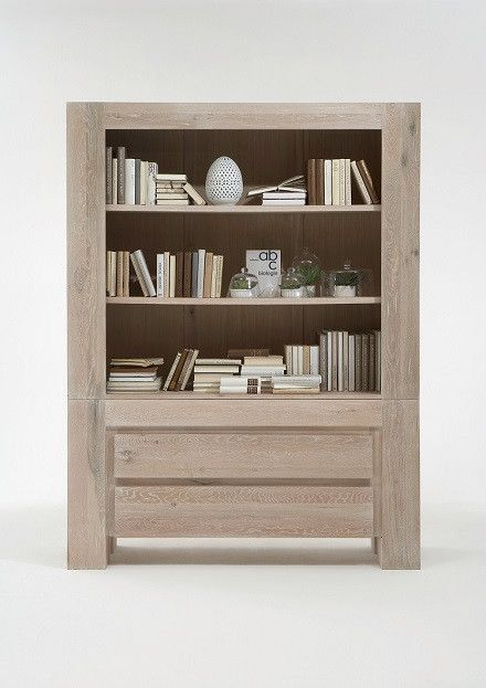 The Boston Bookcase is handmade to order with sold rustic oak wood for modern living. With original features and range of wood colour finishes.