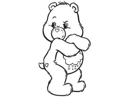 Grumpy Care Bear Coloring Page