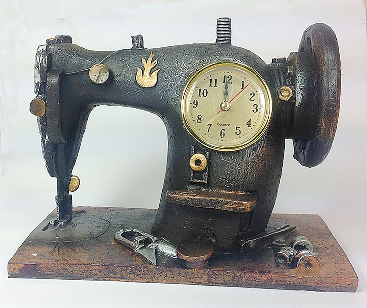 Decorative Sewing Machine Table Clock- Dekoratif Dikiş Makinesi Masa Saati  Dec…