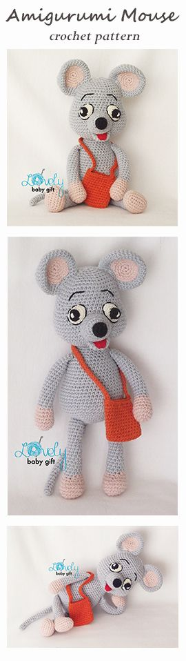 Amigurumi mouse crochet pattern by Lovely Baby Gift https://www.etsy.com/listing/494612818/amigurumi-pattern-mouse-animal-crochet?ref=shop_home_active_26