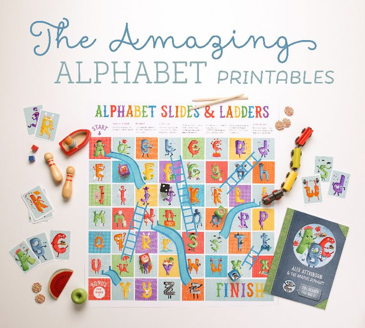 'The Amazing Alphabet' Printables free from Tinyme