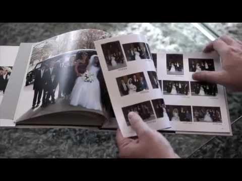 Wedding proof book at Eddison Photographic Studio