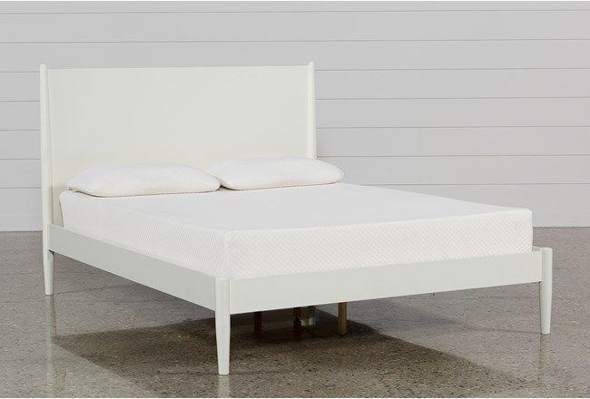 Alton White Queen Platform Bed White Platform Bed Queen