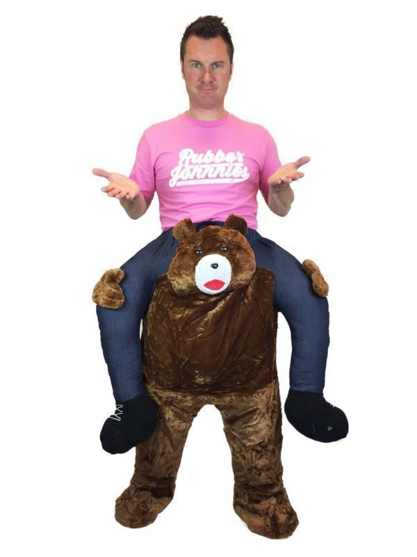 Carry Ride On Me Teddy Bear Animal Fancy Dress Mascot Stag Costume Outfit gift
