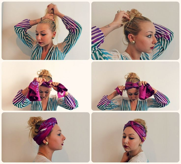 Hair How-To: The Summer Turban with Nicole Alyse of Running In Wedges #StyleNoted: Hair Products, Easy Hairstyles, Head Scarfs, Summer Turban, Summer Style, Hair Howto, Hair How To, Ties Head Scarves, The Beach