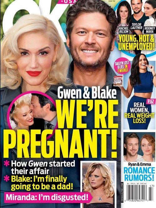 Gwen Stefani Pregnant With Blake Shelton's Baby: Miranda Lambert Disgusted - Couple Starting a Family?