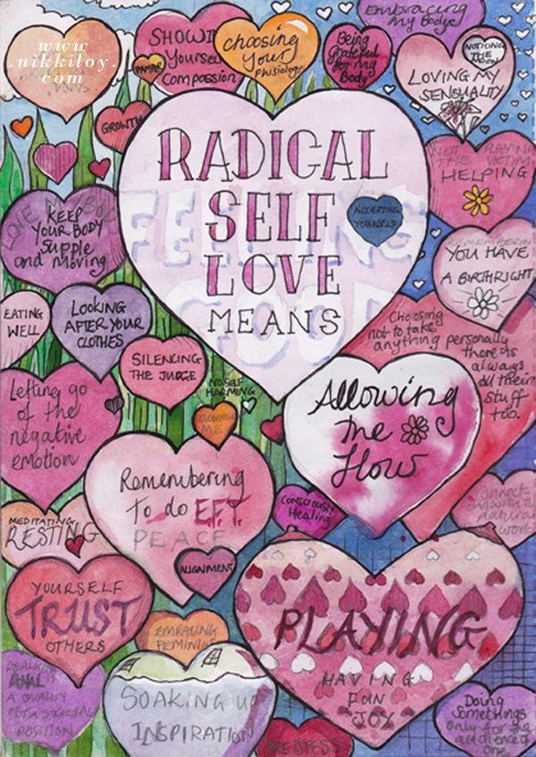 Nikki Loy | Singer songwriter Nikki Loy shares a page from her sketchbook 'What Does Radical Self Love Mean To You?'.