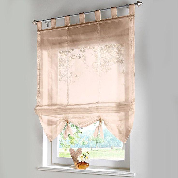 Raffrollo Schlaufen Gardinen Vorhänge 1er-Pack Vorhang H*B 155*100cm Weiß