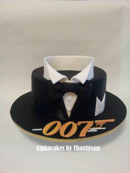 Bond themed cake - by Alpha @ CakesDecor.com - cake decorating website. This cake was Inspired by CakesbyRaewyn