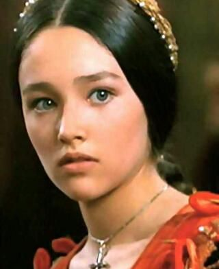 Olivia Hussey as Juliet in Romeo and Juliet