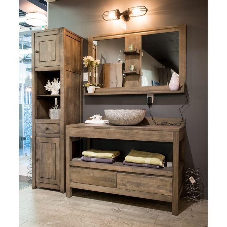 GBI - Vanité en bois, salle de bain,                              …