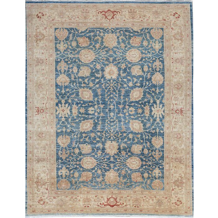 One Of A Kind Hand Knotted Blue 9 8 X 12 5 Wool Area Rug Wool Area Rugs Rugs Area Rugs 8 x 12 area rug
