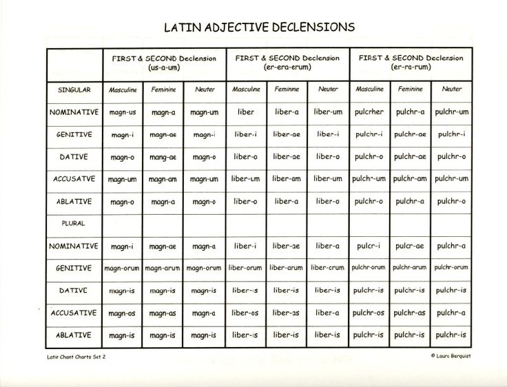 Latin Ending 61