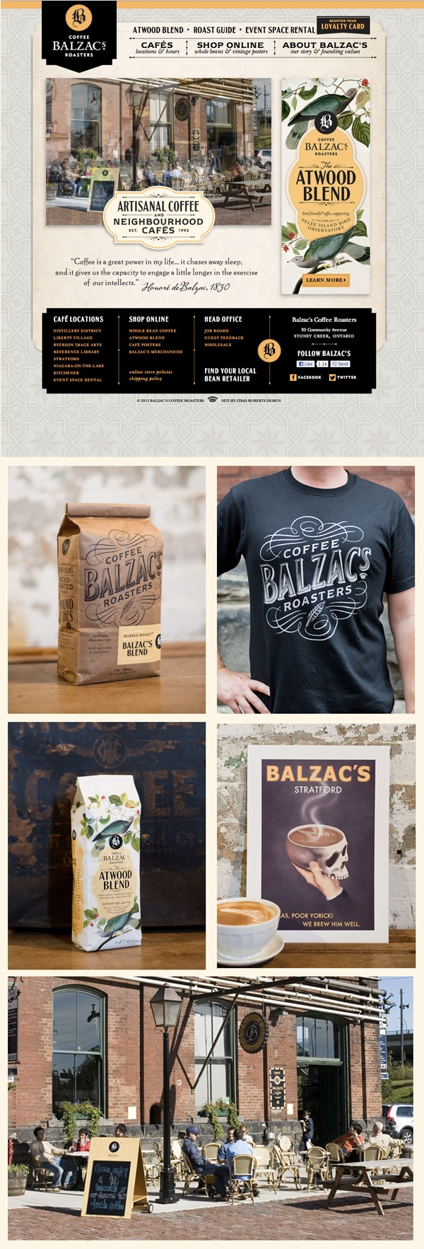A current favorite branding example from Balzac's Coffee Roasters.  Solid in the execution down to every last detail.