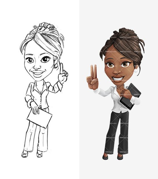 Ethnic Businesswoman Cartoon Character - http://tooncharacters.com/female-cartoon-characters/ethnic-business-woman-cartoon-character/