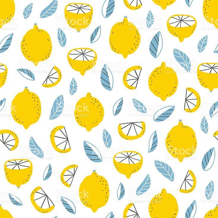 레몬 패턴 royalty-free 일러스트