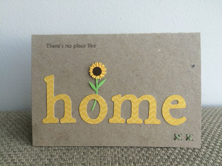 Simple rustic card - ideal for #housewarming, returning #home from #hospital or #travel