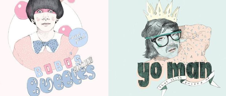 Cute illustrations from Amy Eating Apples