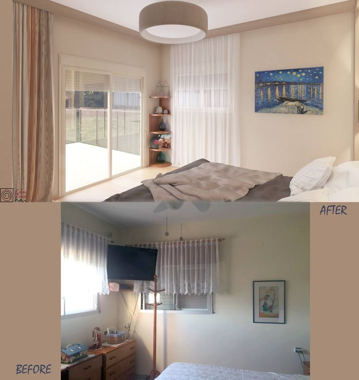 Before and after classic bedroom design by ENLINE DESIGN