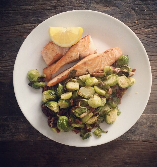 Salmon and Brussels sprout