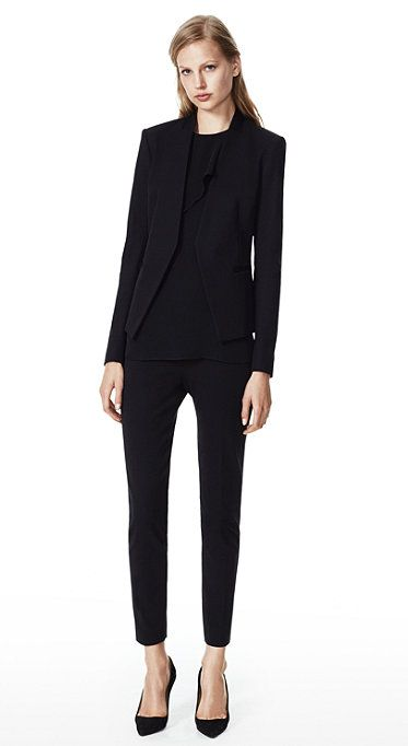 Lastest Women Business Suits Black Jacket Amp Pant Set Single Button Slim Fit