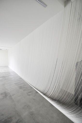 A lovely installation made using ribbons by Ryuji Nakamura