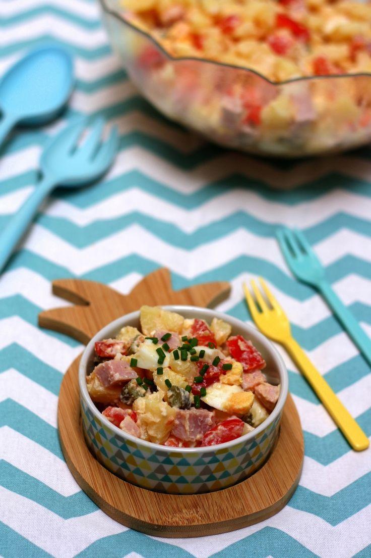 Salade piémontaise maison. Une salade composée estivale à base de pommes de…