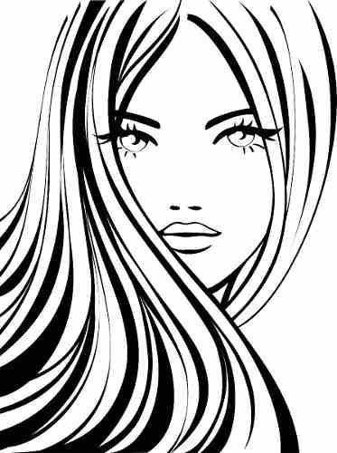silhouette woman hair - Buscar con Google