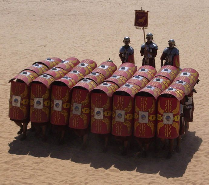 Roman military tactics are still studied at military schools and staff colleges like Sandhurst to this day. Organised military tactics and strategies certainly predated...