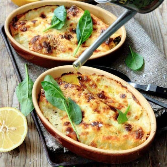 Pastarullar med spenat och lax - Mitt Kök