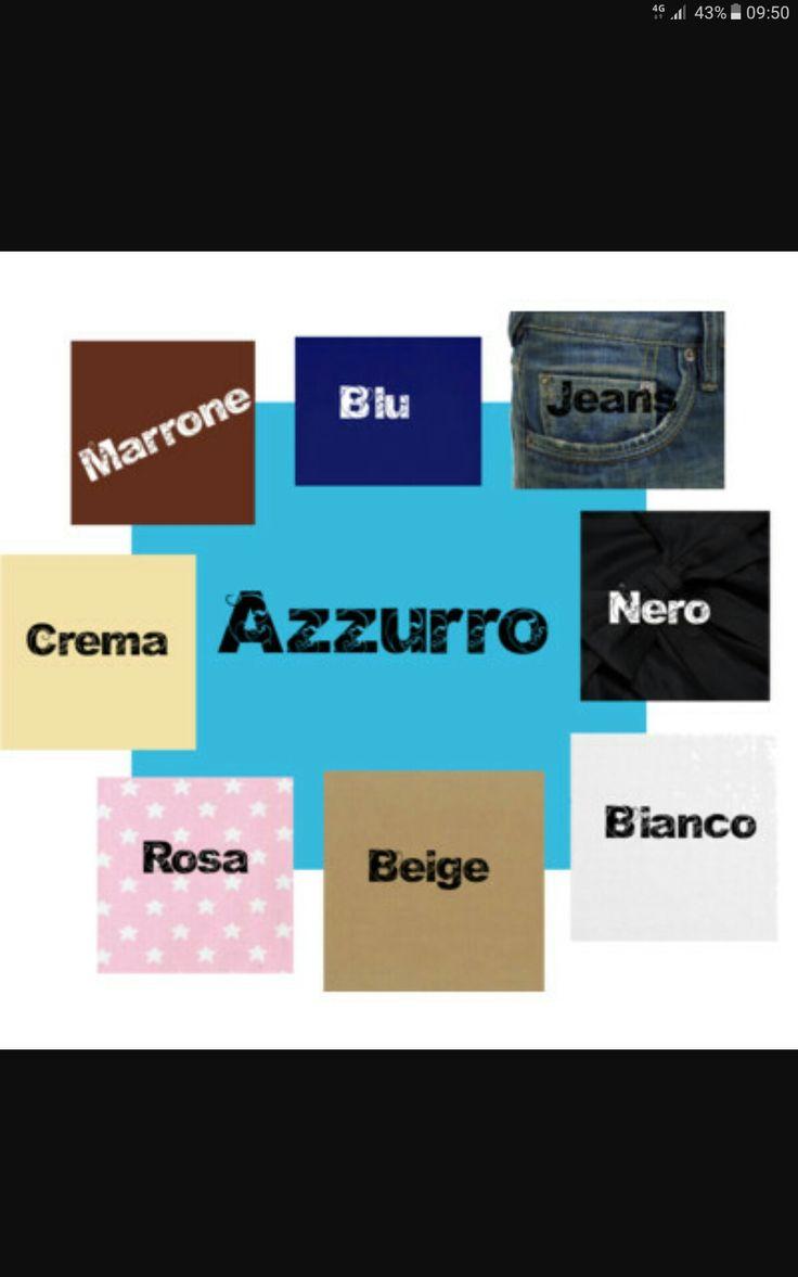 Abbinamento con azzurro