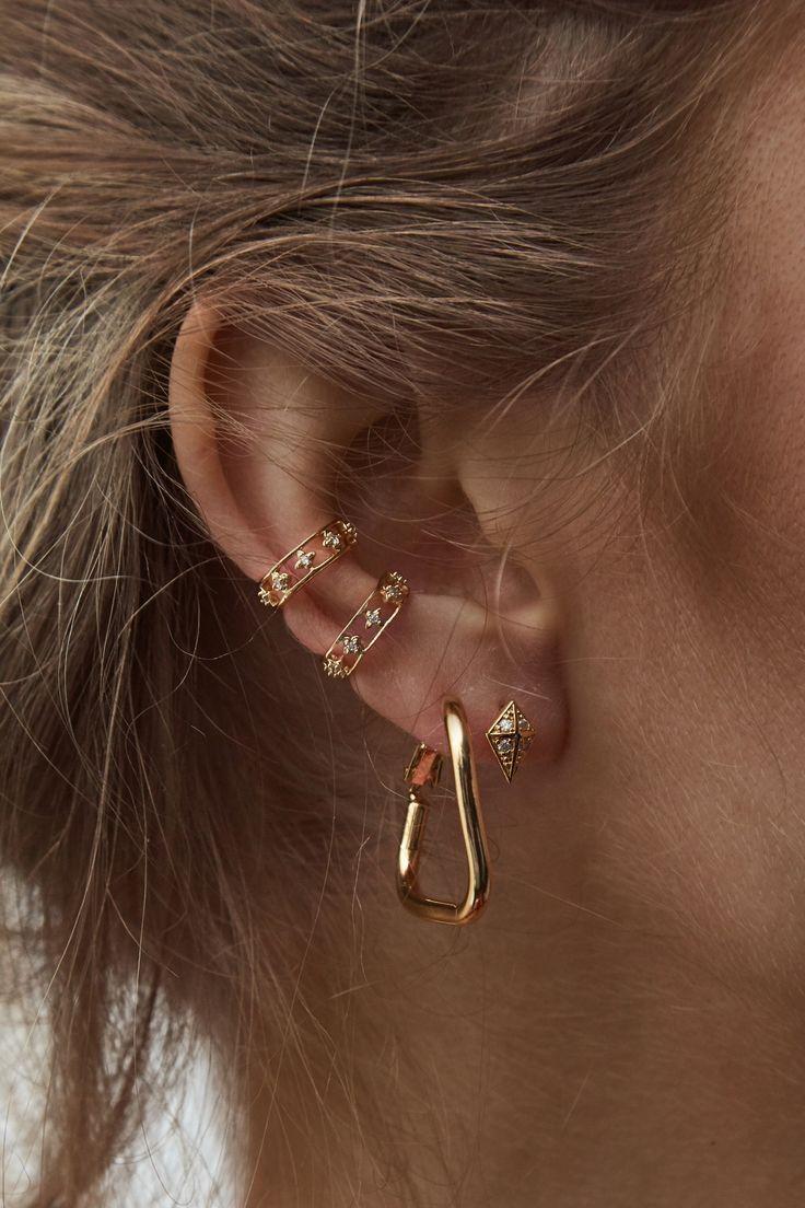 Rue Gembon – Rue Gembon Conjunto de auriculares em ouro MJ   – Frauenschmuck und accessoires